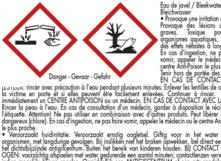 Etiquette eau de Javel