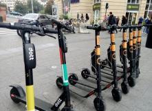 Trottinettes électriques partagées à Bruxelles