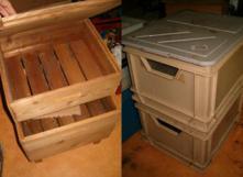 Il est possible de fabriquer sa vermicompostière soi-même. Ici exemples en bois et plastique. Infos sur wormsasbl.org - http://goo.gl/R5ibYk