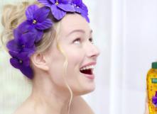La gelée de douche à la violette