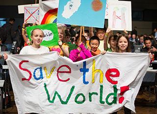 Enfants participant à la COP 23. Photo: CCNUCC