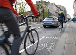 Signalez les obstacles au vélo