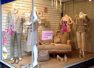 La belle vitrine de la boutique Terre à Namur, lors de la Fête de la récup. Photo: larecup.be