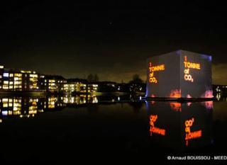 Cube installé lors du sommet de Copenhague (COP15)