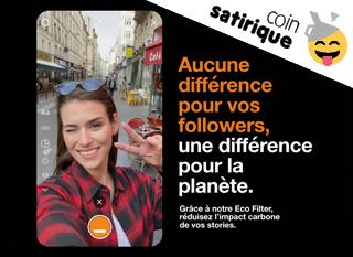 Écofilter, le filtre Instagram qui va sauver la planète ?