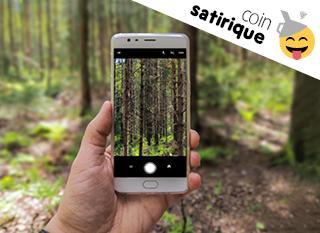 Quand un smartphone prétend sauver les arbres