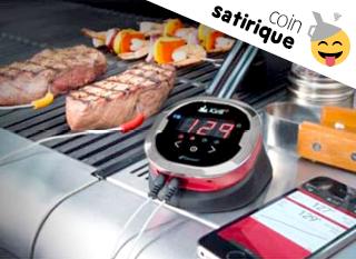 Thermomètre connecté pour barbecue