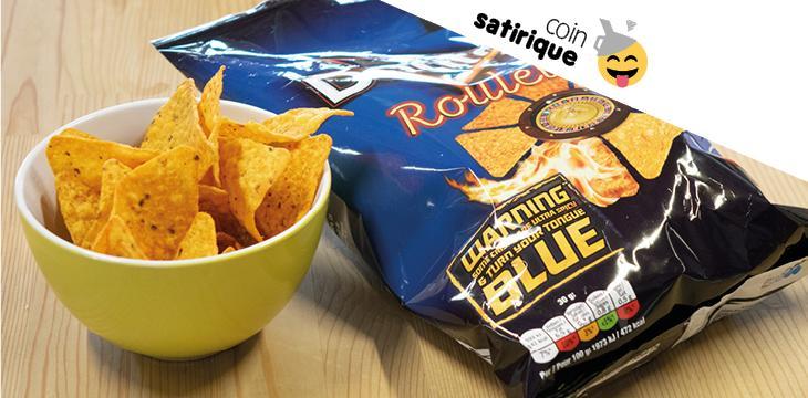 Des chips qui donnent la langue bleue... grâce à un colorant loin d'être anodin
